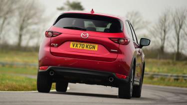 Mazda CX-5 SUV rear cornering