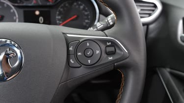 The steering wheel comes wrapped in leather as standard, and sits well in the hand