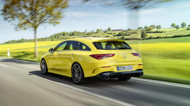 Mercedes-AMG CLA 35 Shooting Brake - rear 3/4 dynamic