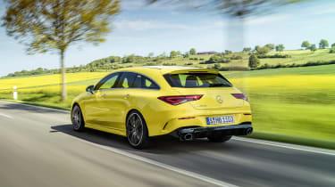 Mercedes-AMG CLA 35 Shooting Brake - rear 3/4 dynamic