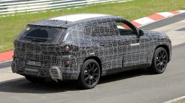 2022 BMW X8 SUV prototype - rear passing