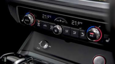 Audi RS Q3 climate control buttons