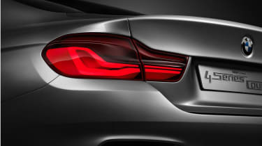BMW 4 Series Coupe 2013 rear light detail