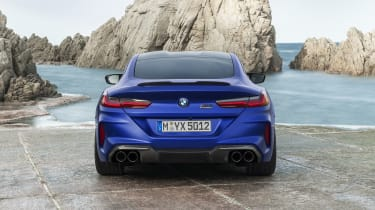 BMW M8 Competition coupe - rear view static