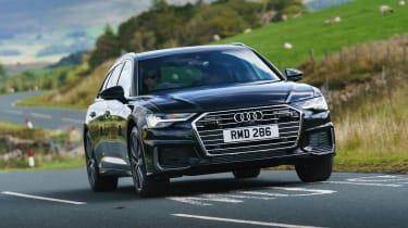 Audi A6 Avant driving