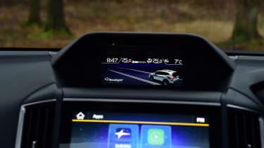 Subaru Forester info screen