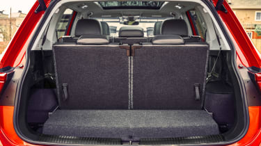 The seven-seat Allspace suffers a serious lack of boot space if the third row of seats is in use.