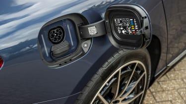 Mercedes EQS hatchback charging flap