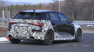 2021 Audi RS3 prototype driving - rear