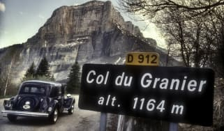 Citroen 15 Six 1950 on the Col du Granier France (1992)