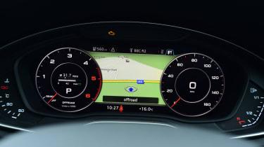Audi Virtual Cockpit - dials and map