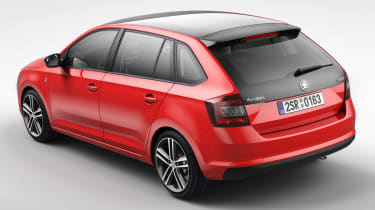 Skoda Rapid Spaceback hatchback 2013 back