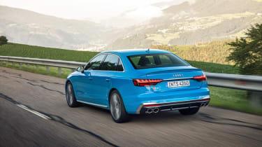 Audi S4 saloon rear driving