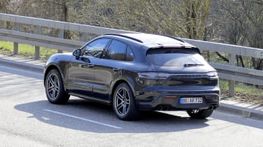 2021 Porsche Macan SUV rear 3/4 driving
