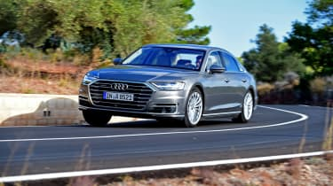 Audi has worked hard to give the A8 an individual look, but it still doesn't feel like a huge stretch beyond older models