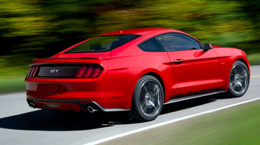 Ford Mustang coupe 2014 rear cornering