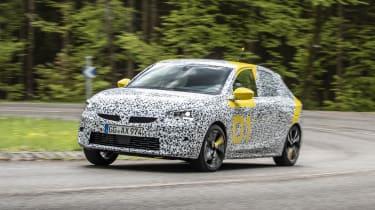Vauxhall Corsa prototype - three quarter front view corner