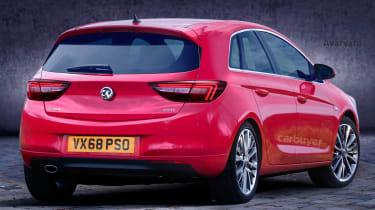 2019 Vauxhall Corsa render rear