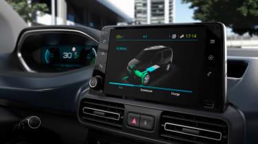 Peugeot e-Rifter info screen