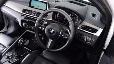 BMW X2 SUV steering wheel