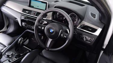BMW X2 SUV steering wheel