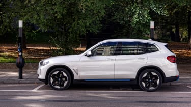 BMW iX3 SUV side static