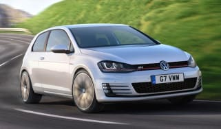 Volkswagen Golf GTI hatchback 2013 front quarter on road