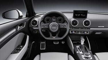 The A3 e-tron uses much the same drivetrain technology as the Golf GTE, but with Audi's famously high-quality interior