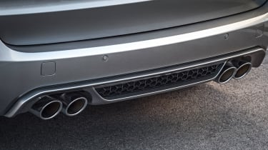 Quad exhaust pipes emit a sound not many people expect from a two-tonne SUV