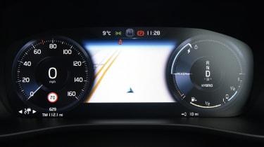 Volvo XC40 SUV digital instrument cluster