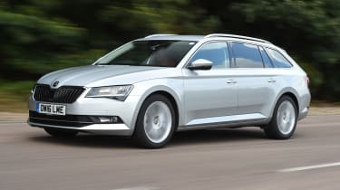 Skoda Superb Estate - front 3/4 driving