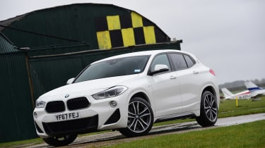 BMW X2 SUV front 3/4 static