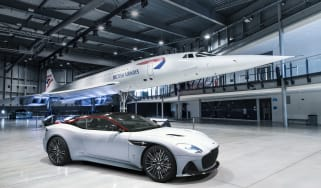 Aston Martin DBS Superleggera Concorde Edition with Concorde plane