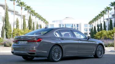 BMW 7 Series saloon rear 3/4 static