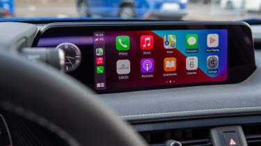 Lexus UX 300e SUV infotainment display