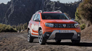 2021 Dacia Duster SUV - front 3/4 dynamic