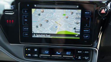 Sat nav is reserved for higher-spec versions