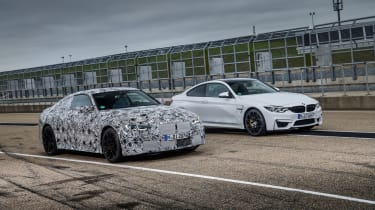 2020 BMW M4 prototype and current BMW M4