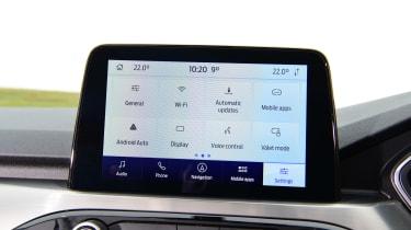Ford Kuga menu screen with icons
