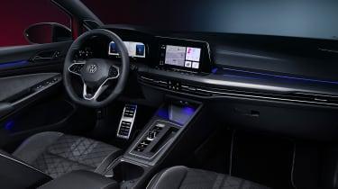 2020 Volkswagen Golf Estate R-Line interior with sat nav screen showing