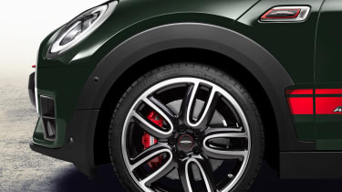 Alloy wheels hide beefier brakes for extra stopping power