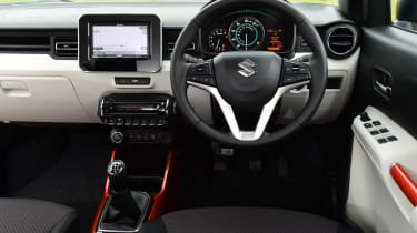 It might be cheap, but the Ignis has a stylish interior with lots of modern features