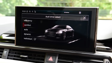 Audi A5 Coupe infotainment display