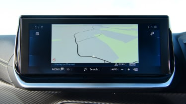 Peugeot 2008 SUV central infotainment display