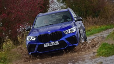 BMW X5 M Competition SUV front off-road