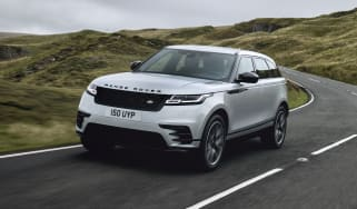 2021 Range Rover Velar P400e plug-in hybrid driving on road