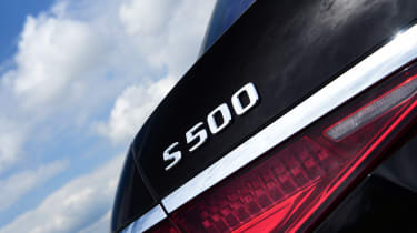Mercedes S-Class saloon rear badge