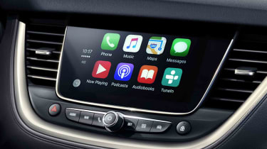 Vauxhall's Intellilink infotainment system, complete with Apple CarPlay and Android Auto, should be standard