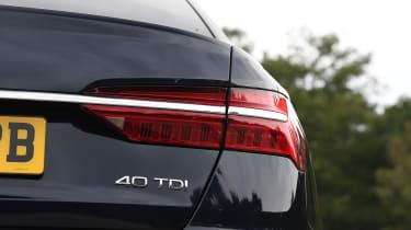 Audi A6 saloon rear badge