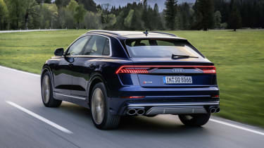 Audi SQ8 driving - rear view